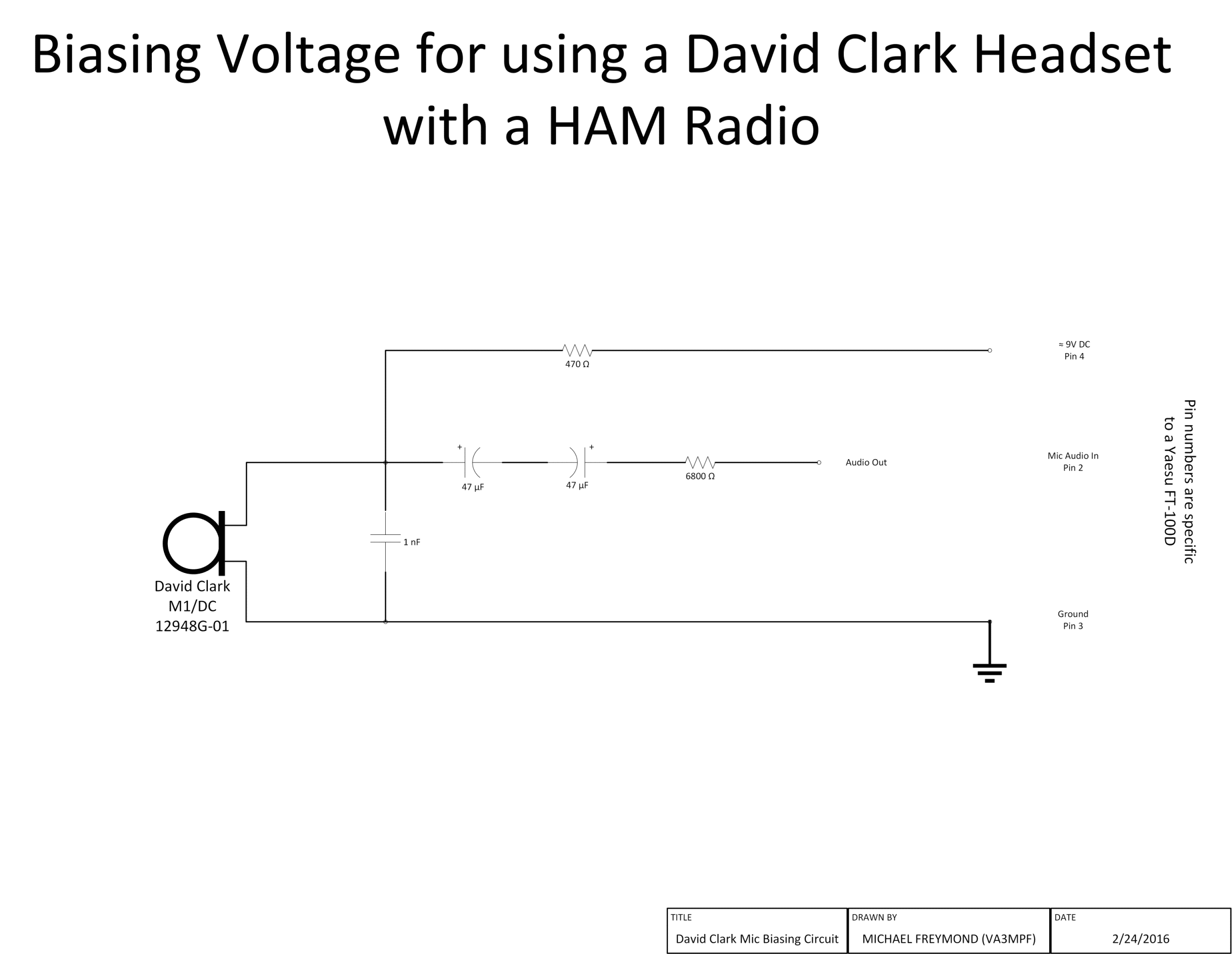 David Clark Headset Schematic Diagram Bookmark About Wiring Connecting A To Amateur Radio Yaesu Ft100 D Rh Freymond Ca Parts
