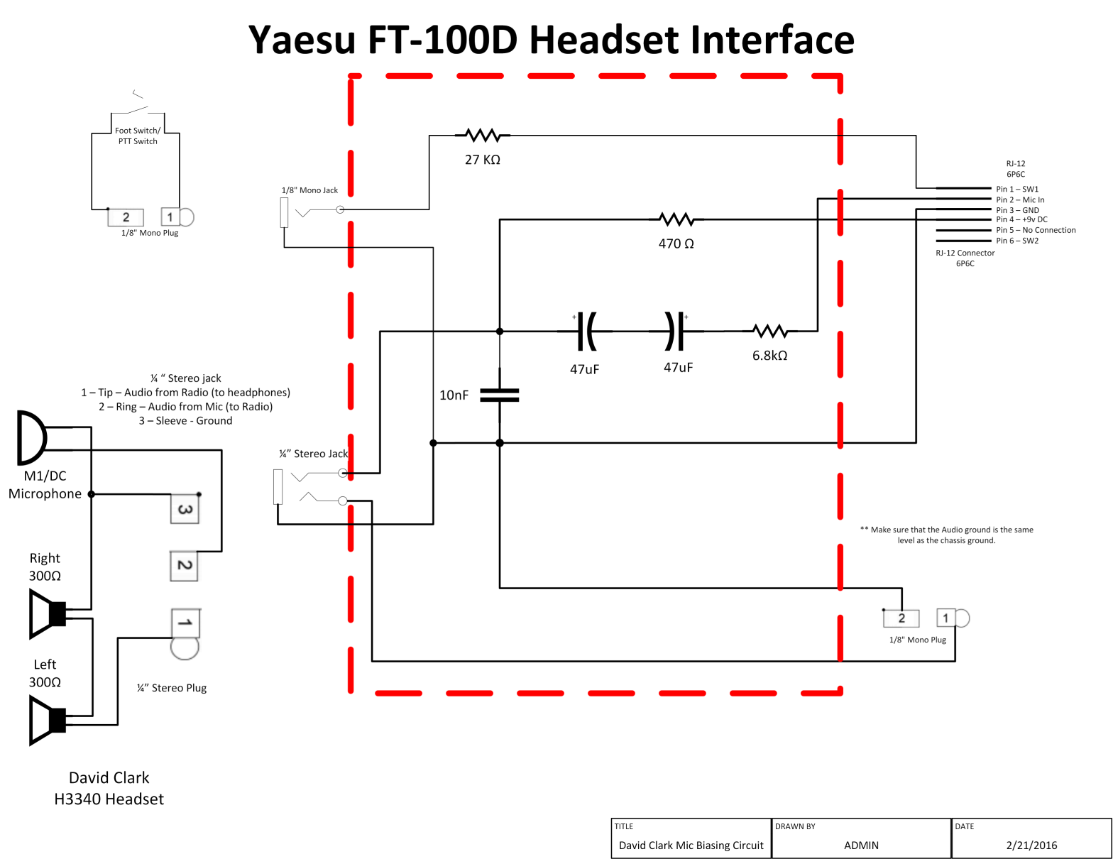 InterfaceCircuitFull connecting a david clark headset to a amateur radio (yaesu ft100 d) david clark headset wiring schematic at readyjetset.co